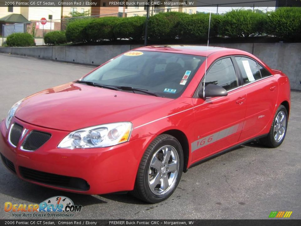 2006 pontiac g6 gt sedan crimson red ebony photo 2. Black Bedroom Furniture Sets. Home Design Ideas