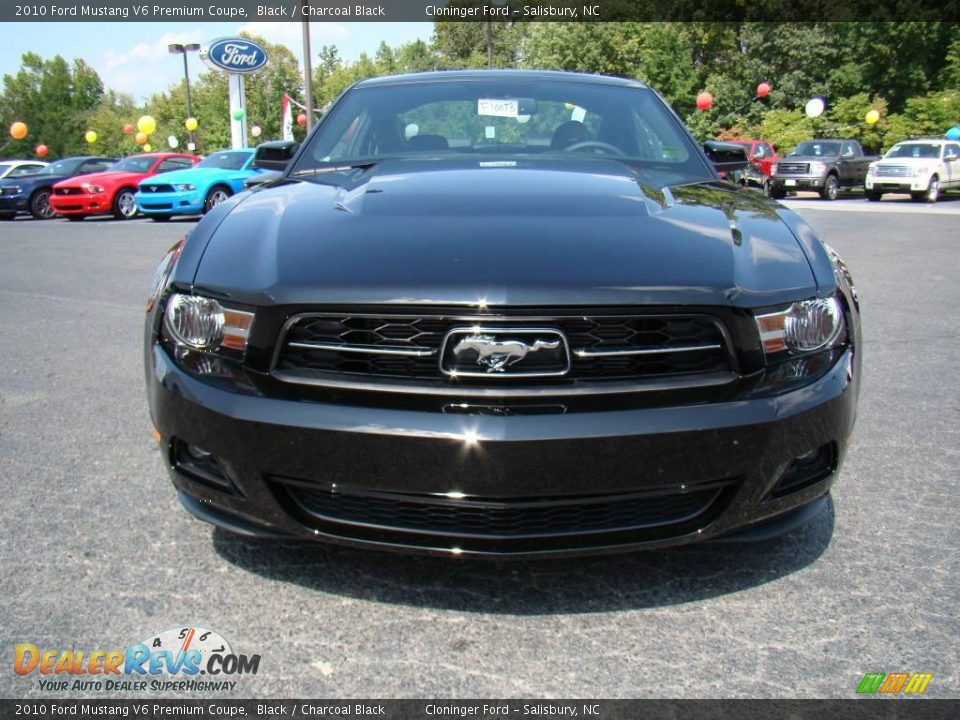 2010 ford mustang v6 premium coupe black charcoal black photo 7. Black Bedroom Furniture Sets. Home Design Ideas