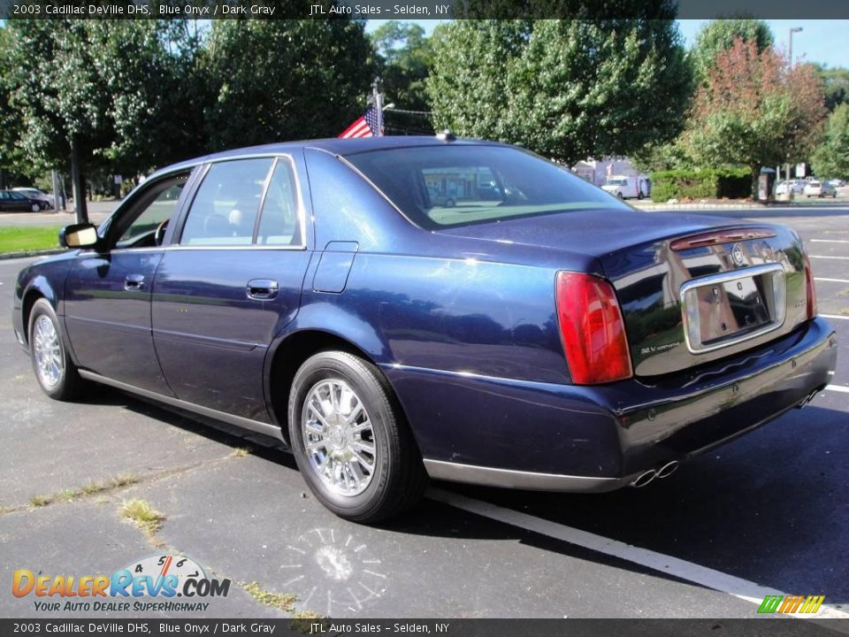 2003 cadillac deville dhs blue onyx dark gray photo 4 dealerrevs com dealerrevs com
