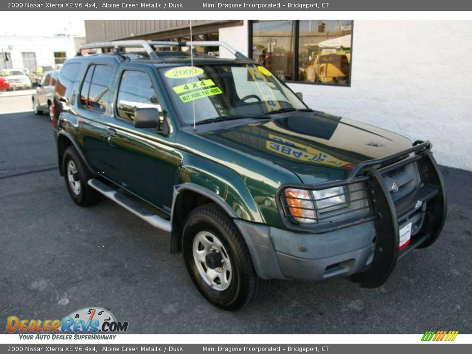 2000 nissan xterra xe v6 4x4 alpine green metallic dusk. Black Bedroom Furniture Sets. Home Design Ideas