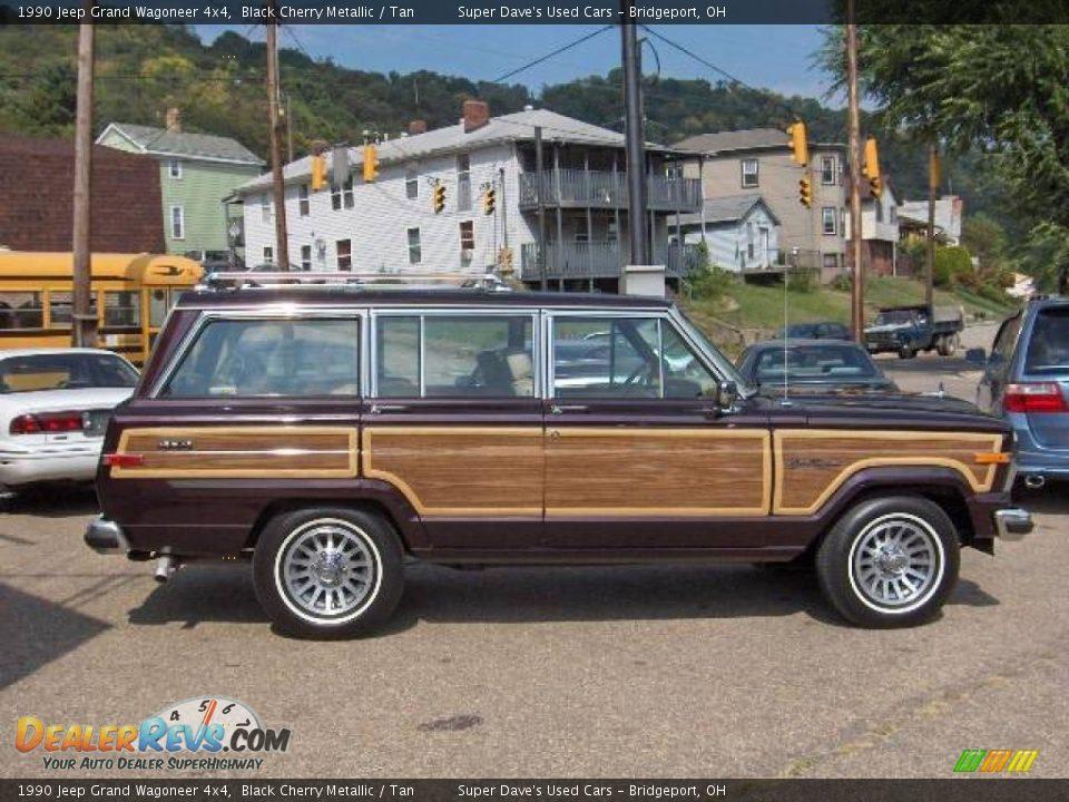 1990 jeep grand wagoneer 4x4 black cherry metallic tan. Black Bedroom Furniture Sets. Home Design Ideas
