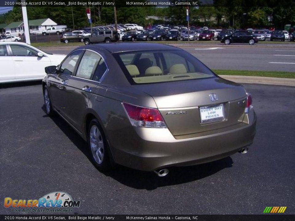 2010 honda accord ex v6 sedan bold beige metallic ivory. Black Bedroom Furniture Sets. Home Design Ideas