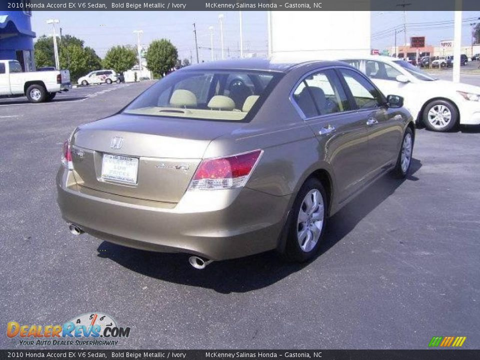 2010 Honda Accord Ex V6 Sedan Bold Beige Metallic Ivory