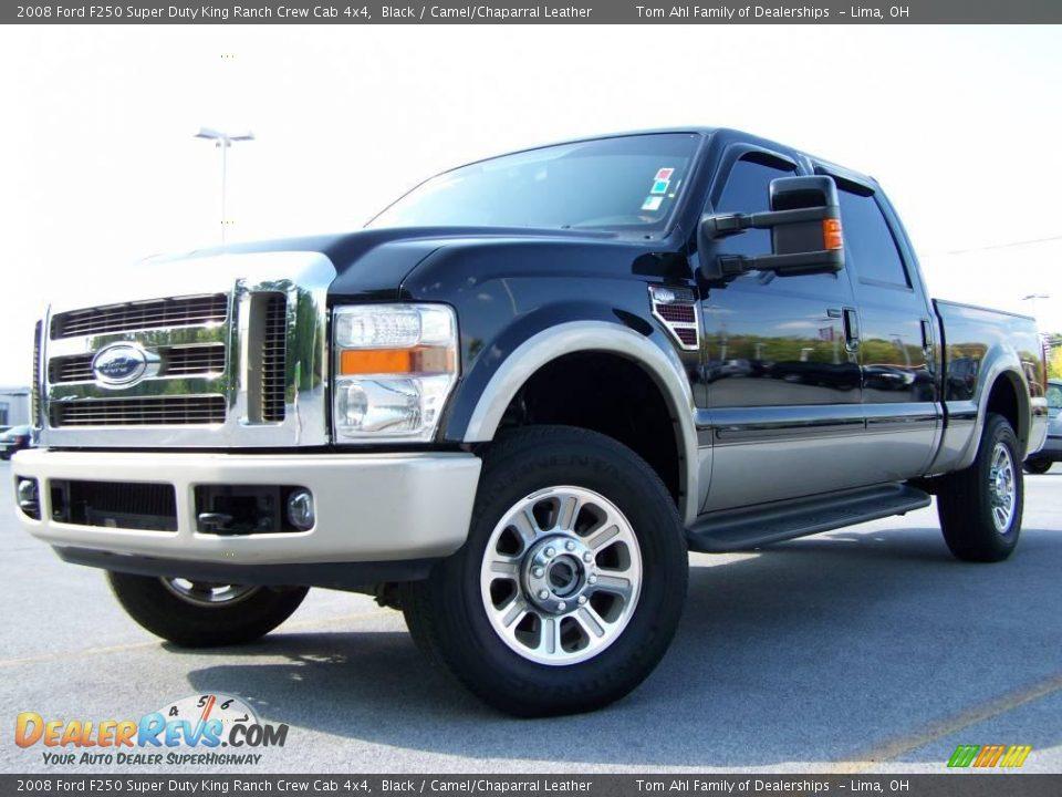 2008 Ford F250 Super Duty King Ranch Crew Cab 4x4 Black
