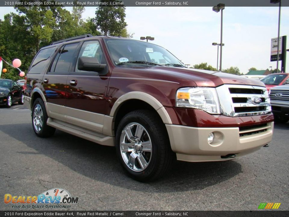 2010 ford expedition eddie bauer 4x4 royal red metallic camel photo 1. Black Bedroom Furniture Sets. Home Design Ideas