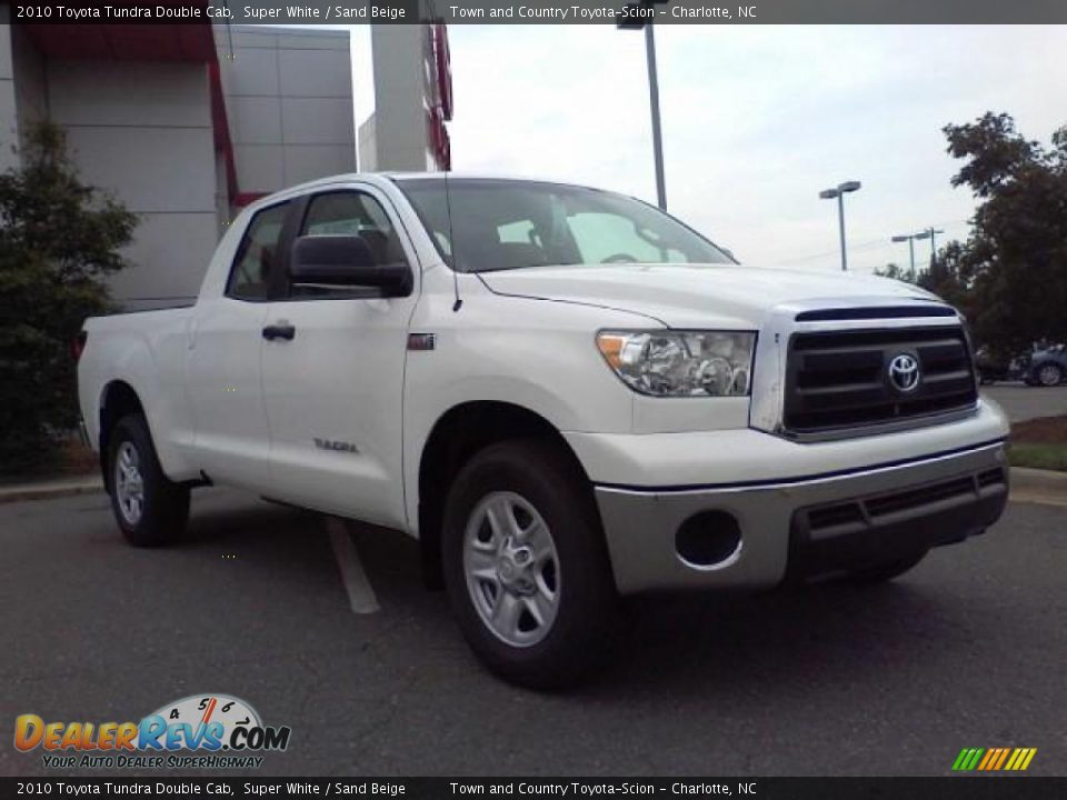 2010 toyota tundra double cab super white sand beige. Black Bedroom Furniture Sets. Home Design Ideas