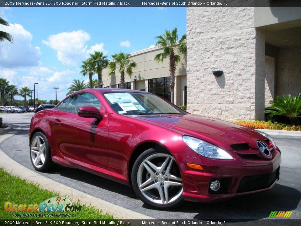 2009 mercedes benz slk 300 roadster storm red metallic for Mercedes benz slk 300