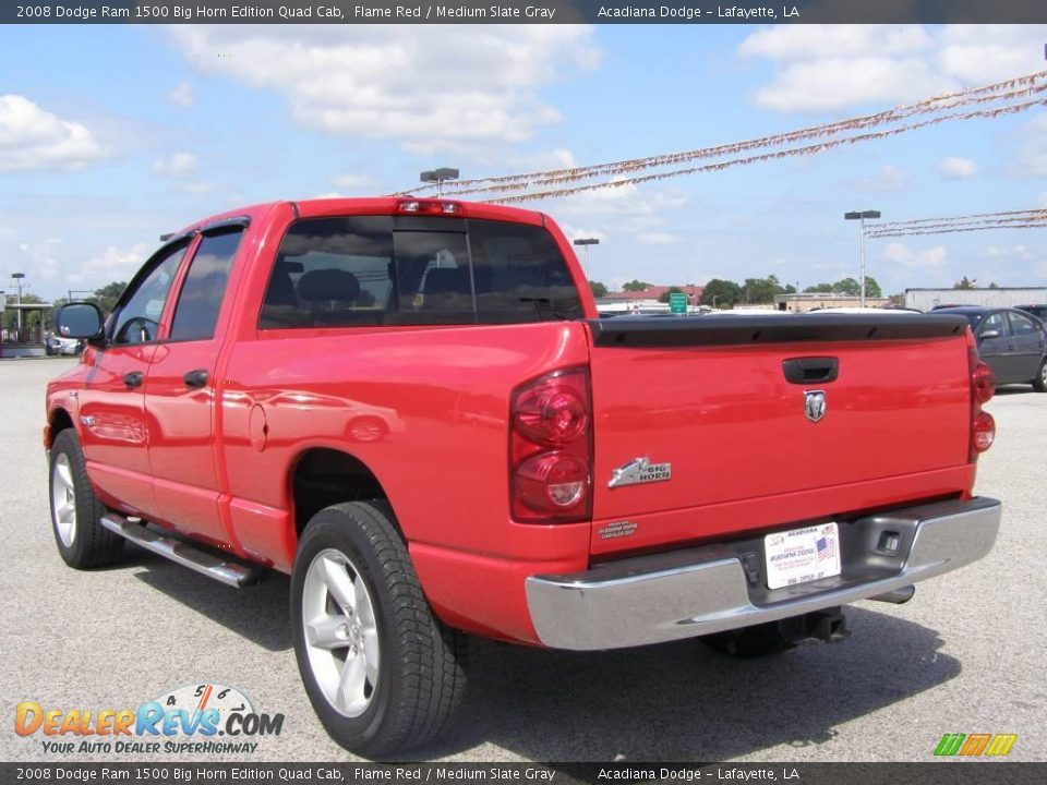 2008 dodge ram 1500 big horn edition quad cab flame red medium slate gray photo 5. Black Bedroom Furniture Sets. Home Design Ideas
