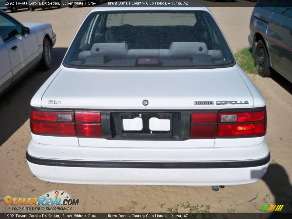 1992 Toyota Corolla DX Sedan Super White / Gray Photo #4 | DealerRevs ...