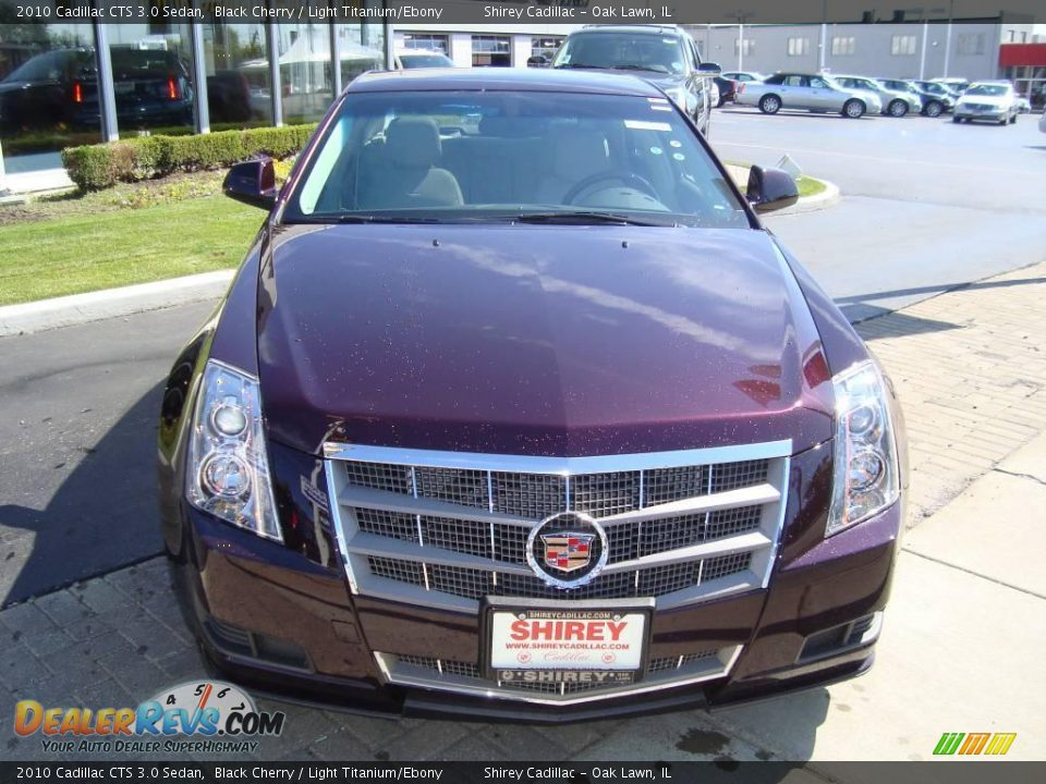 2010 cadillac cts 3 0 sedan black cherry light titanium. Black Bedroom Furniture Sets. Home Design Ideas