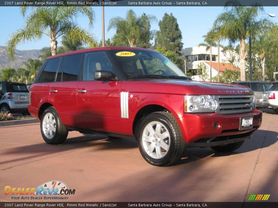 2007 land rover range rover hse rimini red metallic sand jet photo 1. Black Bedroom Furniture Sets. Home Design Ideas