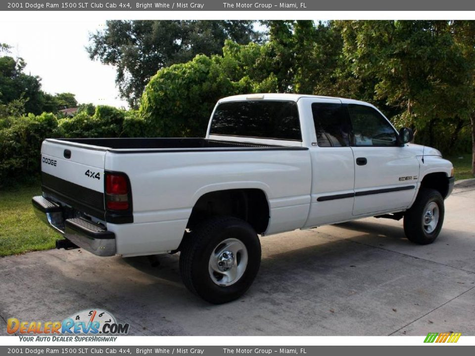 2001 dodge ram 1500 slt club cab 4x4 bright white mist gray photo 10. Black Bedroom Furniture Sets. Home Design Ideas