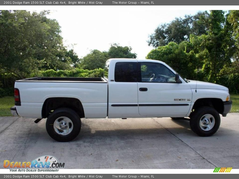 2001 dodge ram 1500 slt club cab 4x4 bright white mist gray photo 12. Black Bedroom Furniture Sets. Home Design Ideas