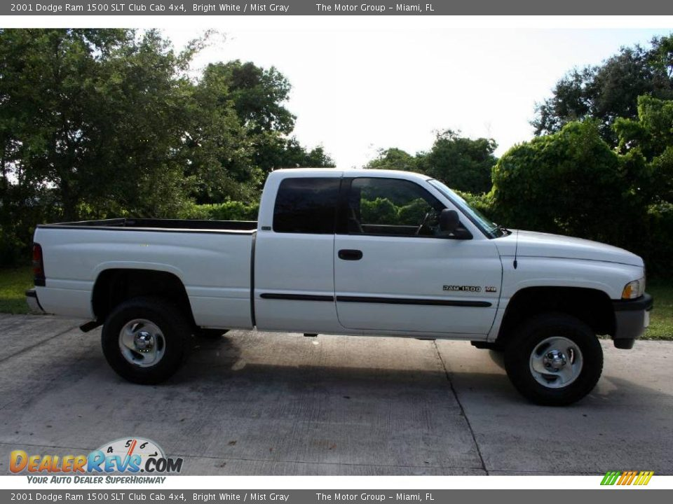 2001 dodge ram 1500 slt club cab 4x4 bright white mist gray photo 13. Black Bedroom Furniture Sets. Home Design Ideas