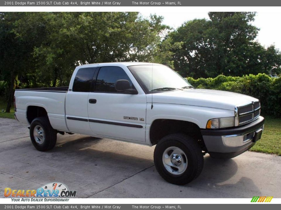 2001 dodge ram 1500 slt club cab 4x4 bright white mist gray photo 15. Black Bedroom Furniture Sets. Home Design Ideas