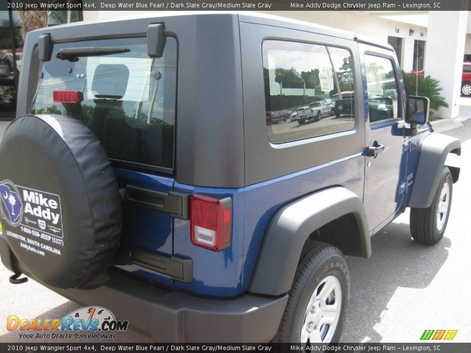 2010 Jeep Wrangler Sport 4x4 Deep Water Blue Pearl Dark