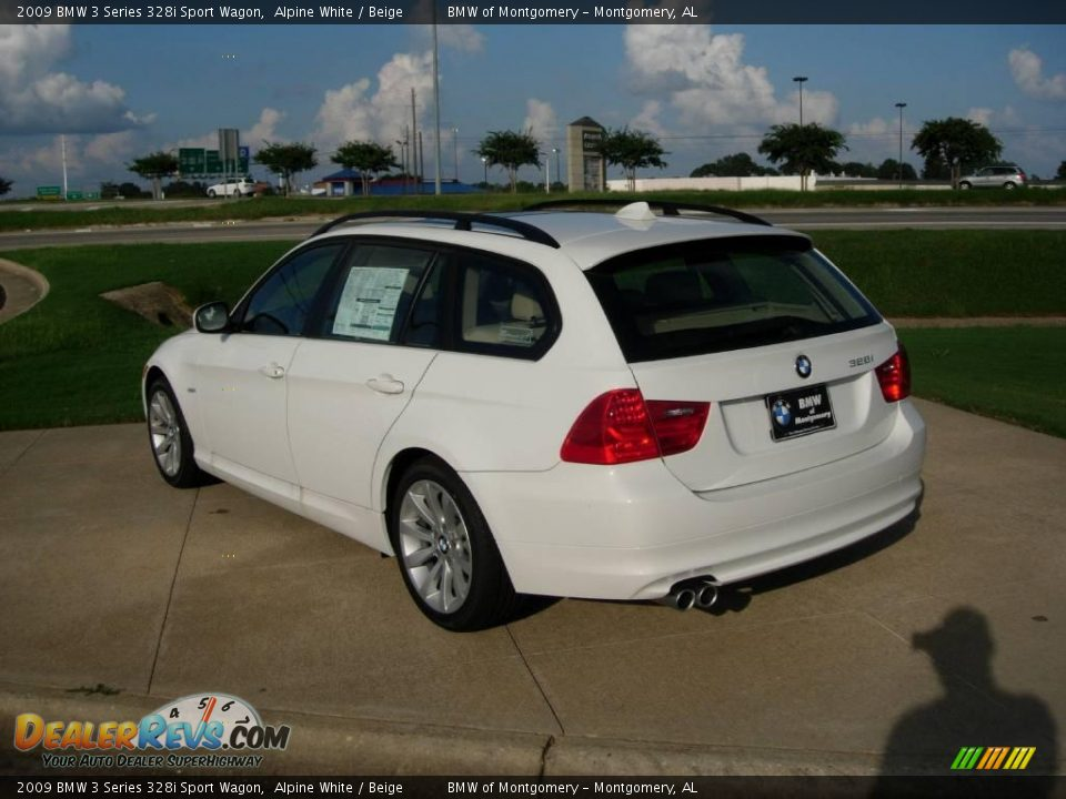 2009 bmw 3 series 328i sport wagon alpine white beige photo 4. Black Bedroom Furniture Sets. Home Design Ideas