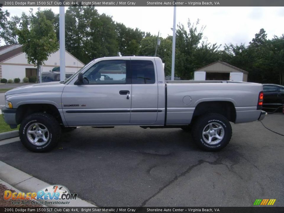 2001 dodge ram 1500 slt club cab 4x4 bright silver metallic mist gray photo 4. Black Bedroom Furniture Sets. Home Design Ideas