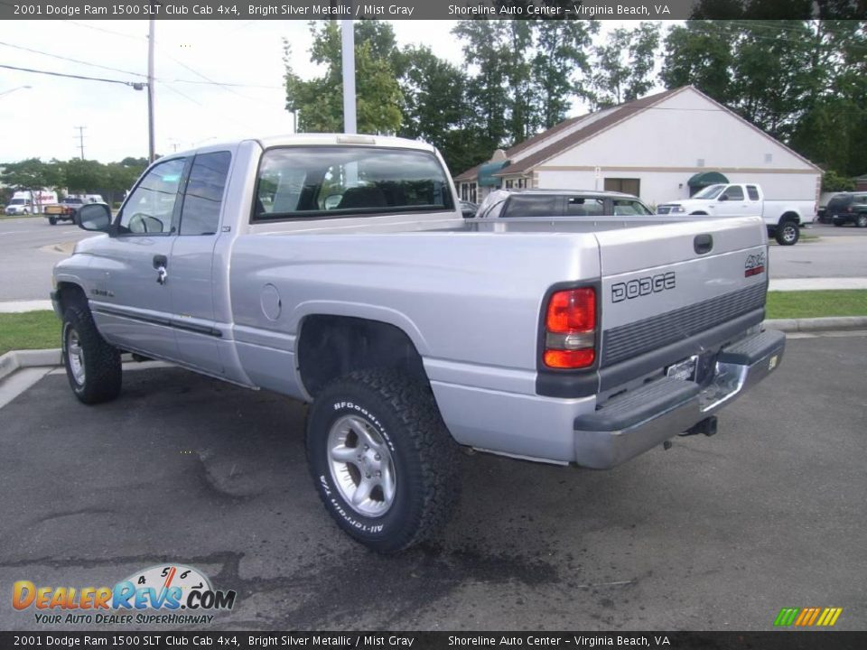 2001 dodge ram 1500 slt club cab 4x4 bright silver metallic mist gray photo 5. Black Bedroom Furniture Sets. Home Design Ideas