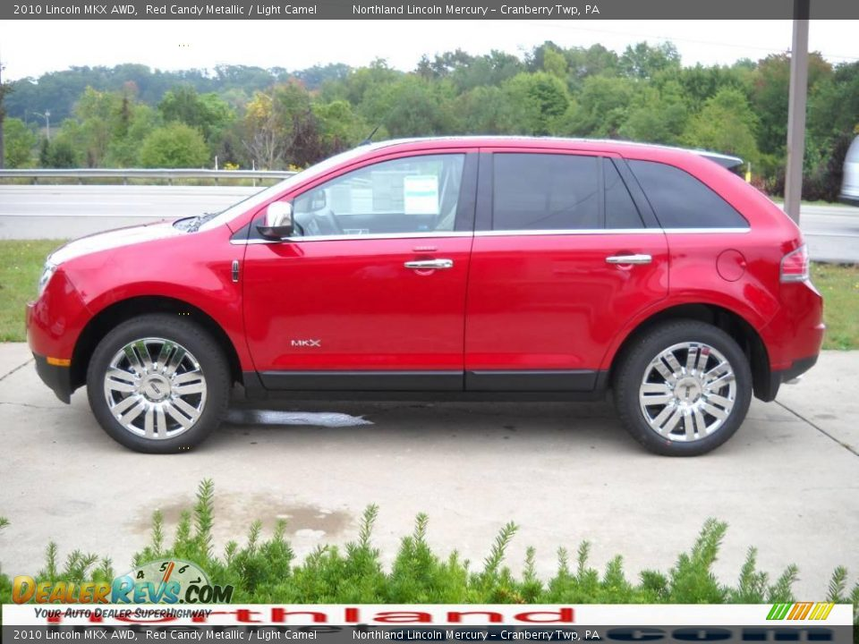 2010 Lincoln Mkx Awd Red Candy Metallic Light Camel