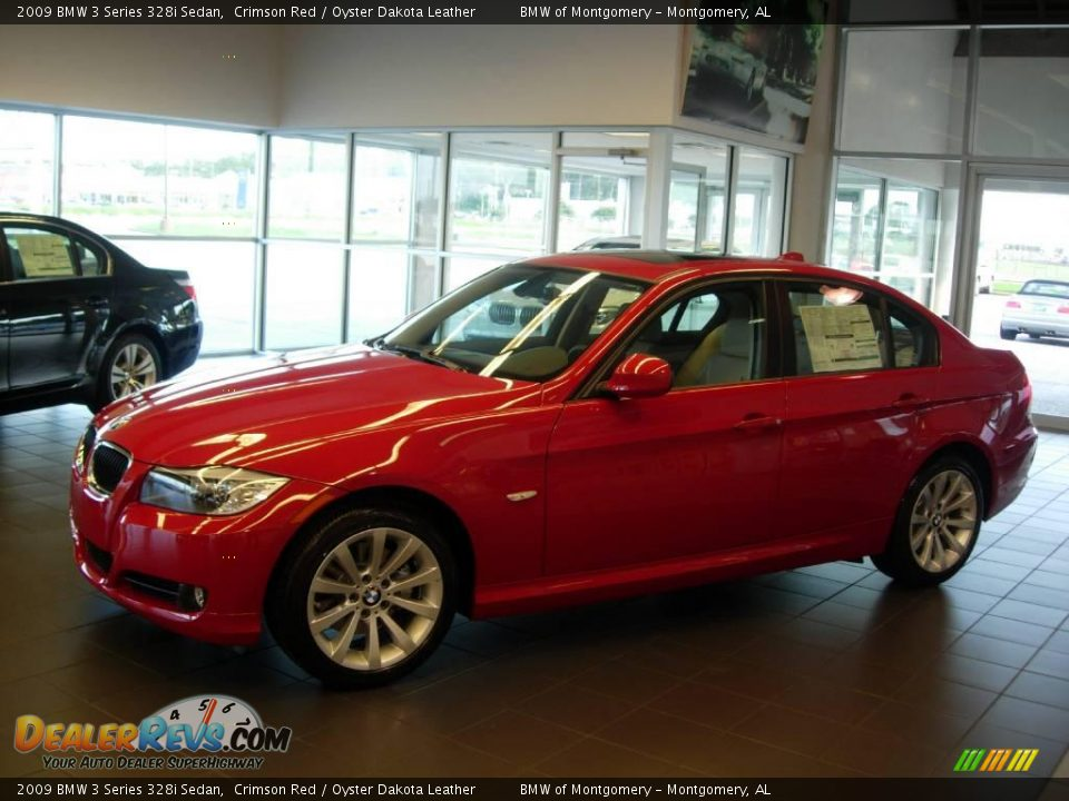 2009 bmw 3 series 328i sedan crimson red oyster dakota leather photo 1. Black Bedroom Furniture Sets. Home Design Ideas
