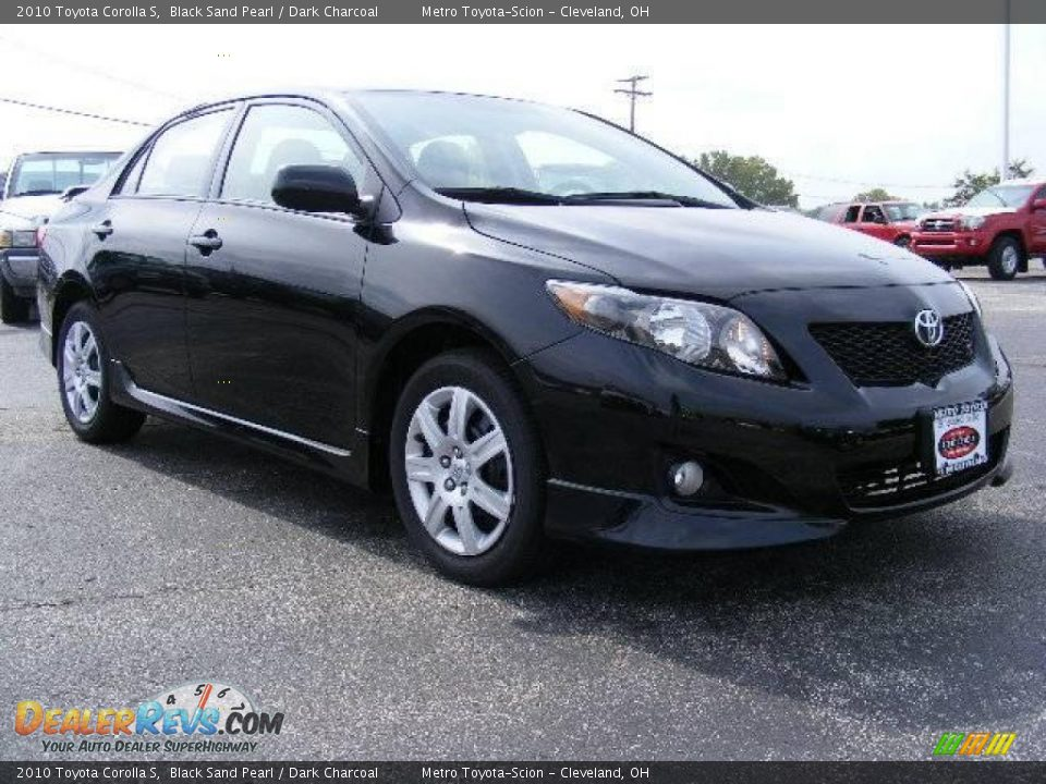 2010 Toyota Corolla S Black Sand Pearl Dark Charcoal