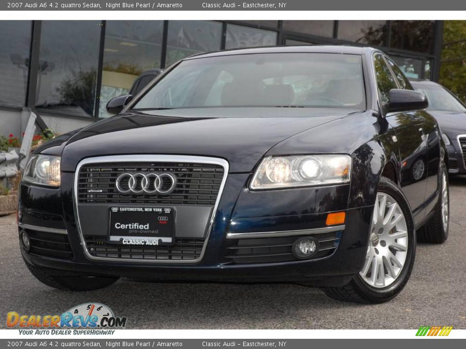 2007 audi a6 4 2 quattro sedan night blue pearl amaretto photo 1. Black Bedroom Furniture Sets. Home Design Ideas