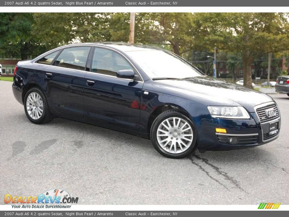 2007 audi a6 4 2 quattro sedan night blue pearl amaretto. Black Bedroom Furniture Sets. Home Design Ideas