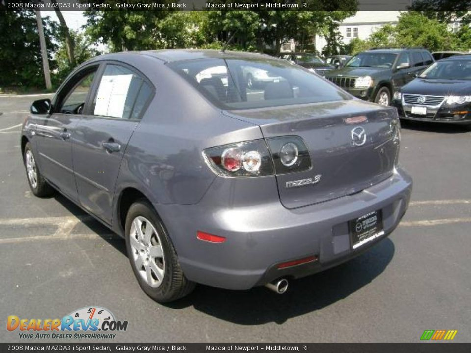 2008 mazda mazda3 i sport sedan galaxy gray mica black. Black Bedroom Furniture Sets. Home Design Ideas