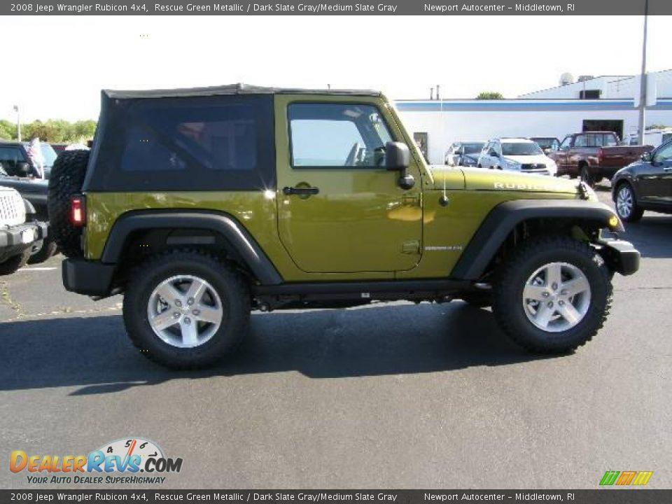 2008 Jeep Wrangler Rubicon 4x4 Rescue Green Metallic