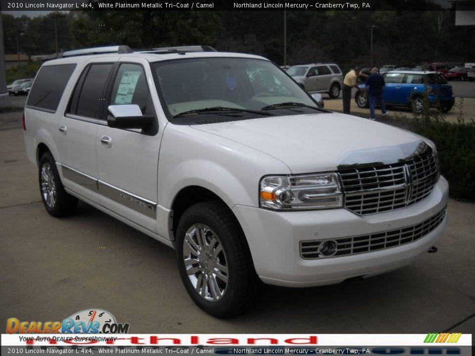 2010 Lincoln Navigator L 4x4 White Platinum Metallic Tri