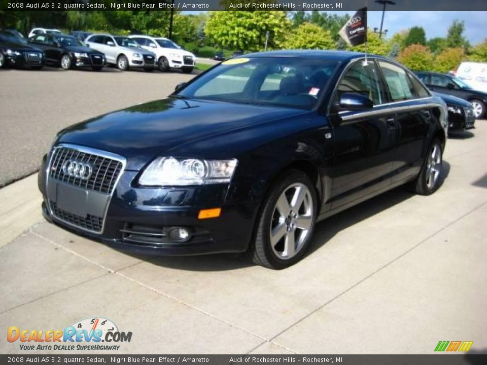 2008 audi a6 3 2 quattro sedan night blue pearl effect amaretto photo 3. Black Bedroom Furniture Sets. Home Design Ideas