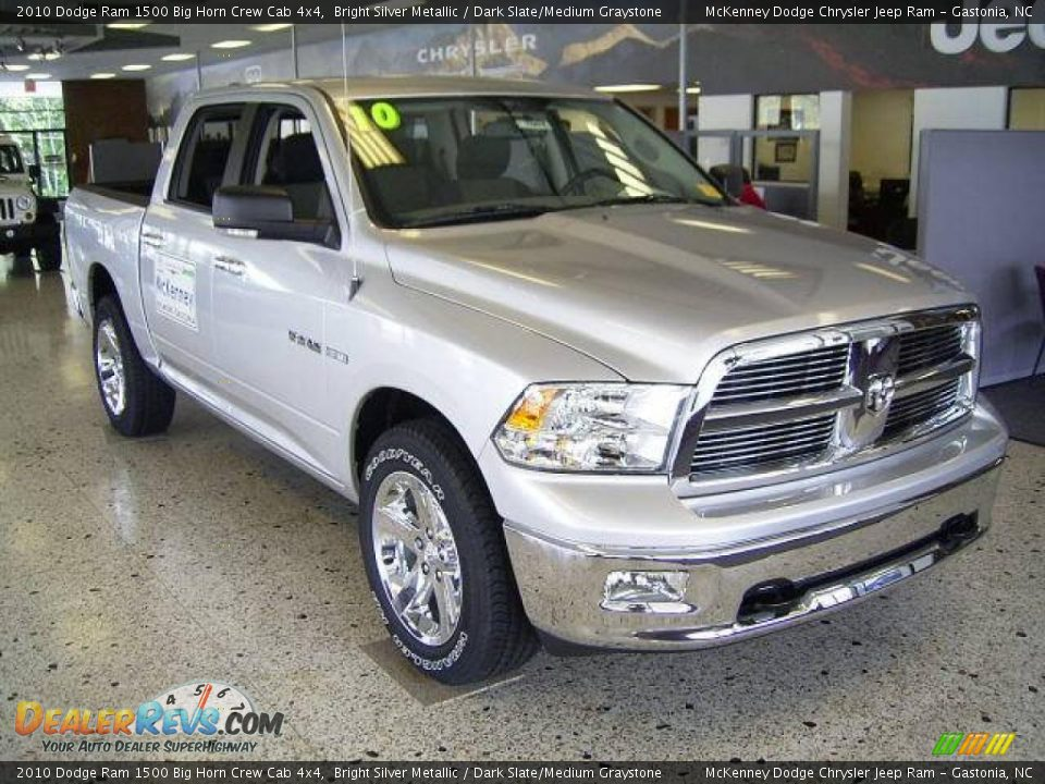 2017 Dodge Ram >> 2010 Dodge Ram 1500 Big Horn Crew Cab 4x4 Bright Silver ...