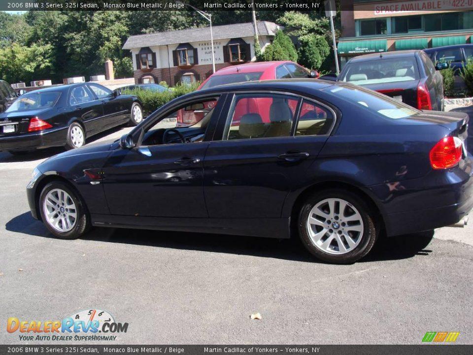 2006 bmw 3 series 325i sedan monaco blue metallic beige. Black Bedroom Furniture Sets. Home Design Ideas