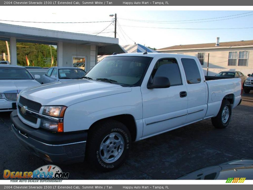 2004 chevrolet silverado 1500 lt extended cab summit white tan photo 1. Black Bedroom Furniture Sets. Home Design Ideas