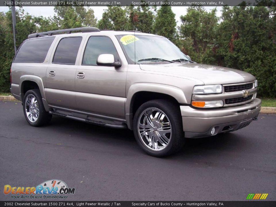 2002 chevrolet suburban 1500 z71 4x4 light pewter metallic tan photo 17 dealerrevs com