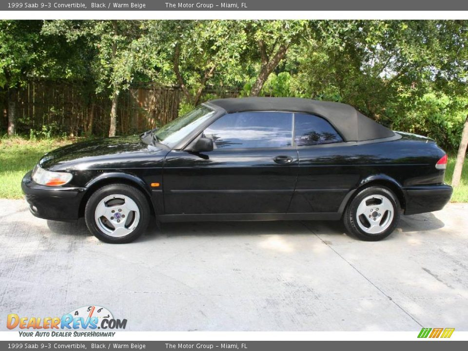 1999 saab 9 3 convertible black warm beige photo 4. Black Bedroom Furniture Sets. Home Design Ideas