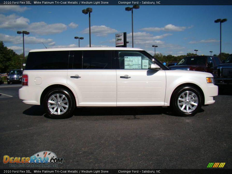 Ford Dealer Locator >> 2010 Ford Flex SEL White Platinum Tri-Coat Metallic / Medium Light Stone Photo #2 | DealerRevs.com