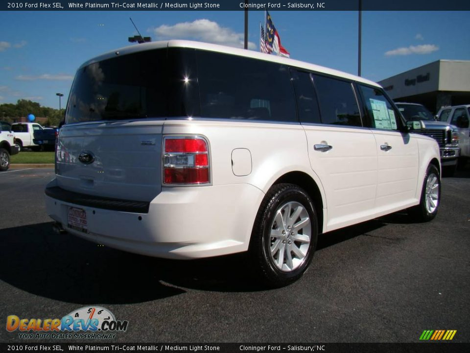2010 Ford Flex Sel White Platinum Tri Coat Metallic