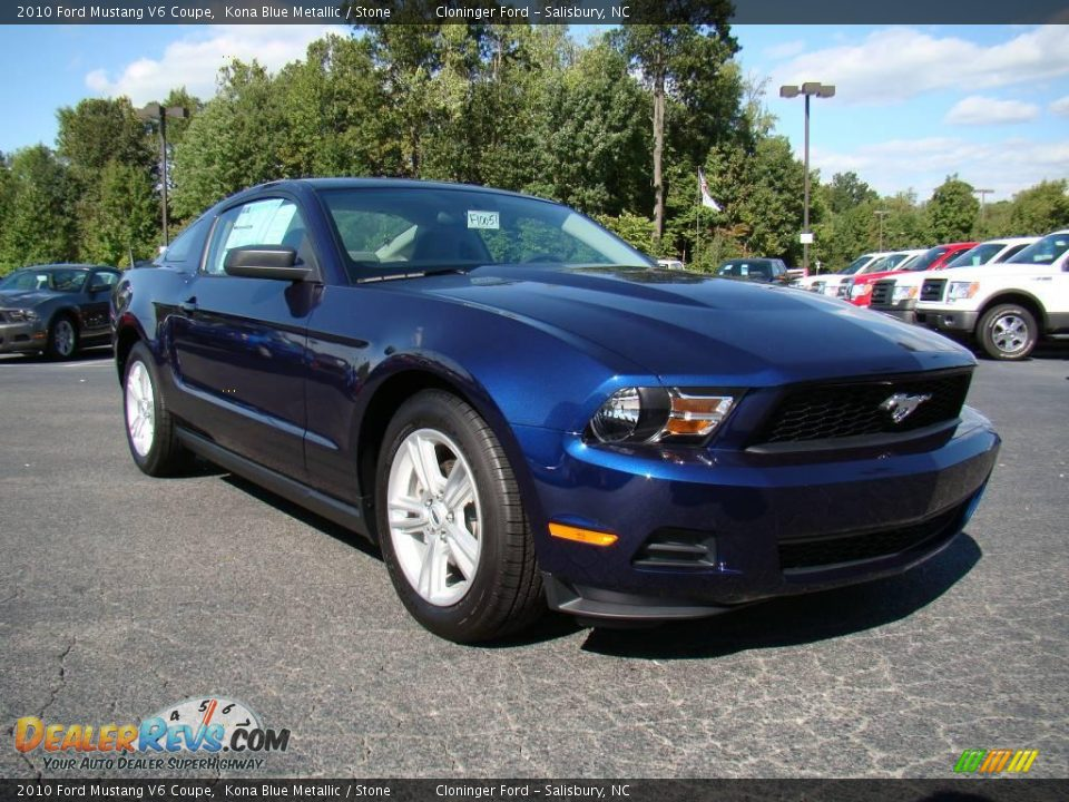 2010 ford mustang v6 coupe kona blue metallic stone photo 1. Black Bedroom Furniture Sets. Home Design Ideas
