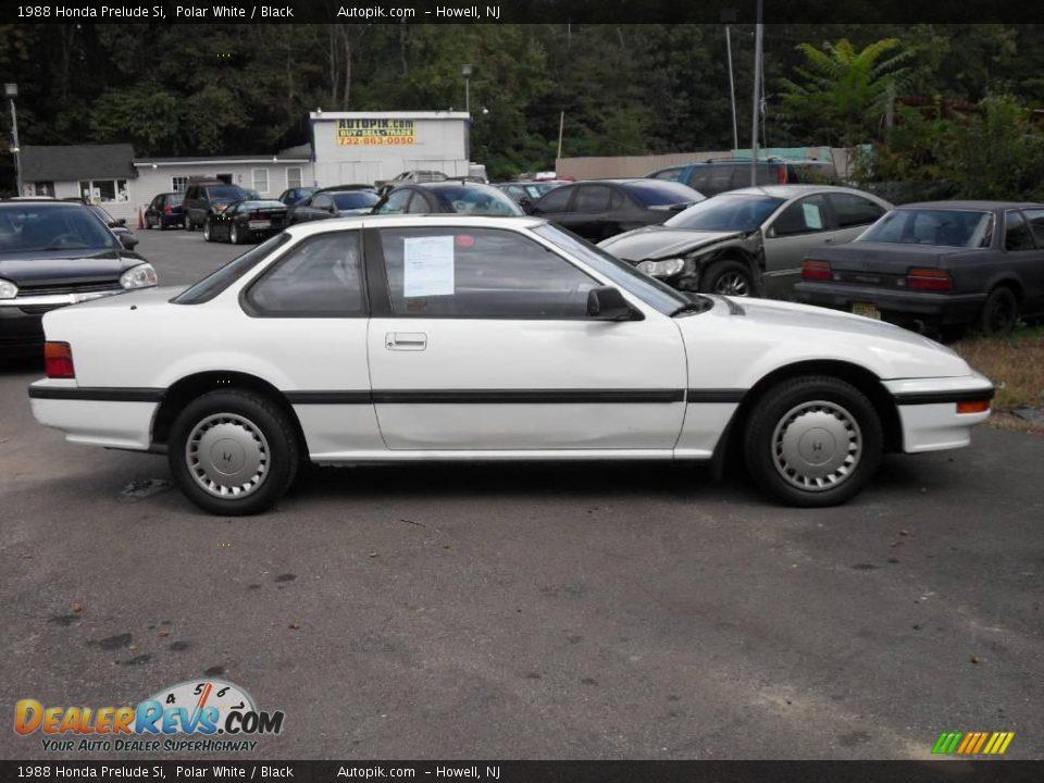 1988 Honda Prelude Si Polar White / Black Photo #4   DealerRevs.com