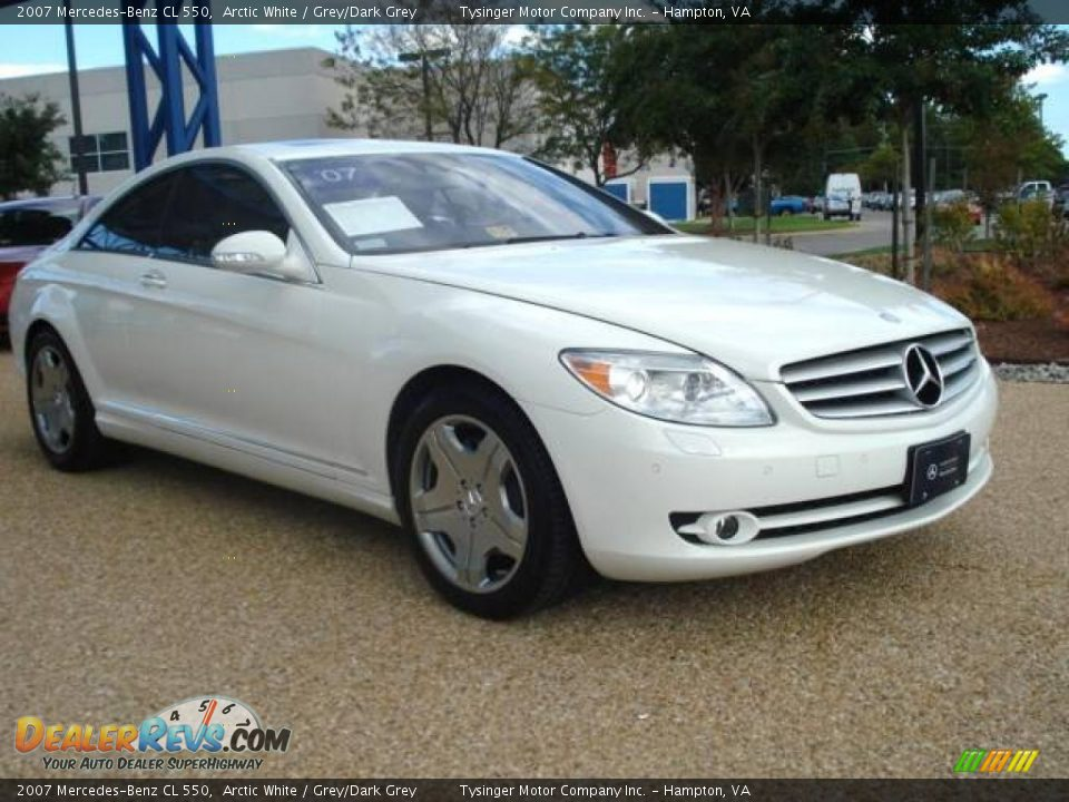 2007 mercedes benz cl 550 arctic white grey dark grey