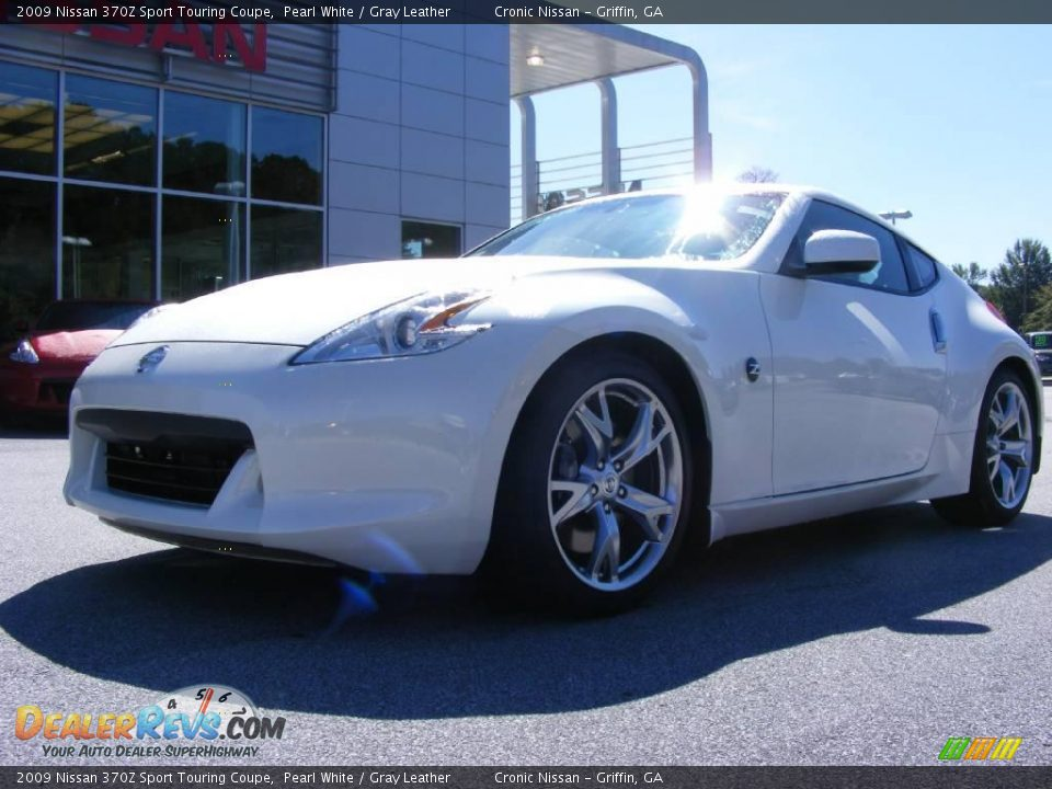 2009 nissan 370z sport touring coupe pearl white gray leather photo 2 - Nissan 370z touring coupe ...