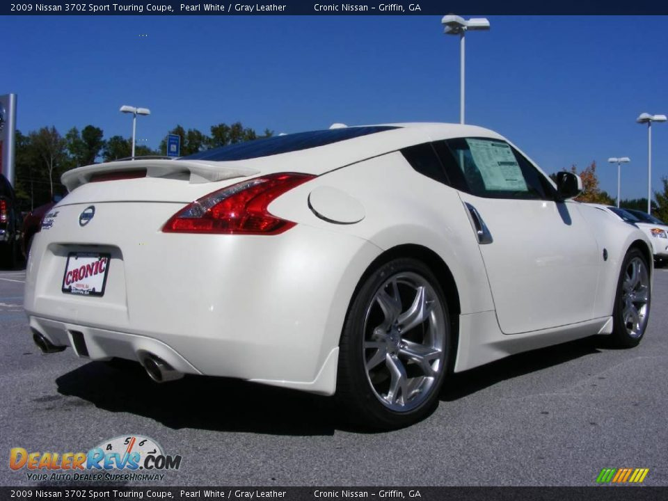 2009 Nissan 370z Sport Touring Coupe Pearl White Gray Leather Photo 6 Dealerrevs Com