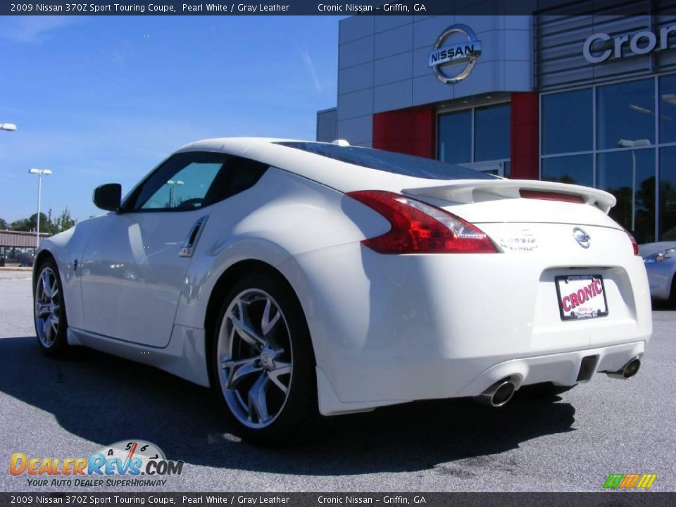 2009 nissan 370z sport touring coupe pearl white gray leather photo 8 - Nissan 370z touring coupe ...