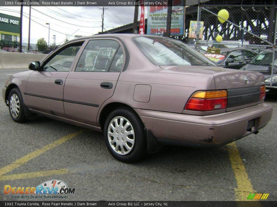 Toyota New Car 2017 >> 1993 Toyota Corolla Rose Pearl Metallic / Dark Brown Photo ...