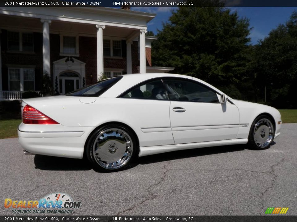2001 mercedes benz cl 600 glacier white oyster photo 11 for 2001 mercedes benz cl600