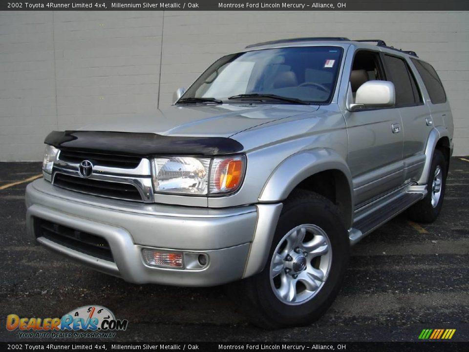 2002 Toyota 4runner Limited 4x4 Millennium Silver Metallic