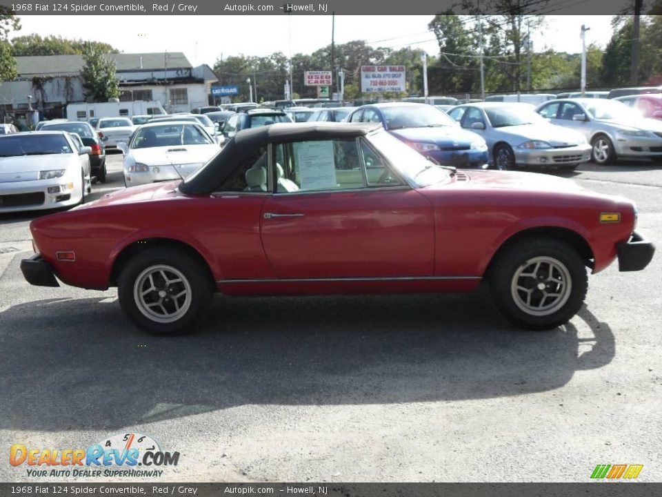 1968 fiat 124 spider convertible red grey photo 4. Black Bedroom Furniture Sets. Home Design Ideas