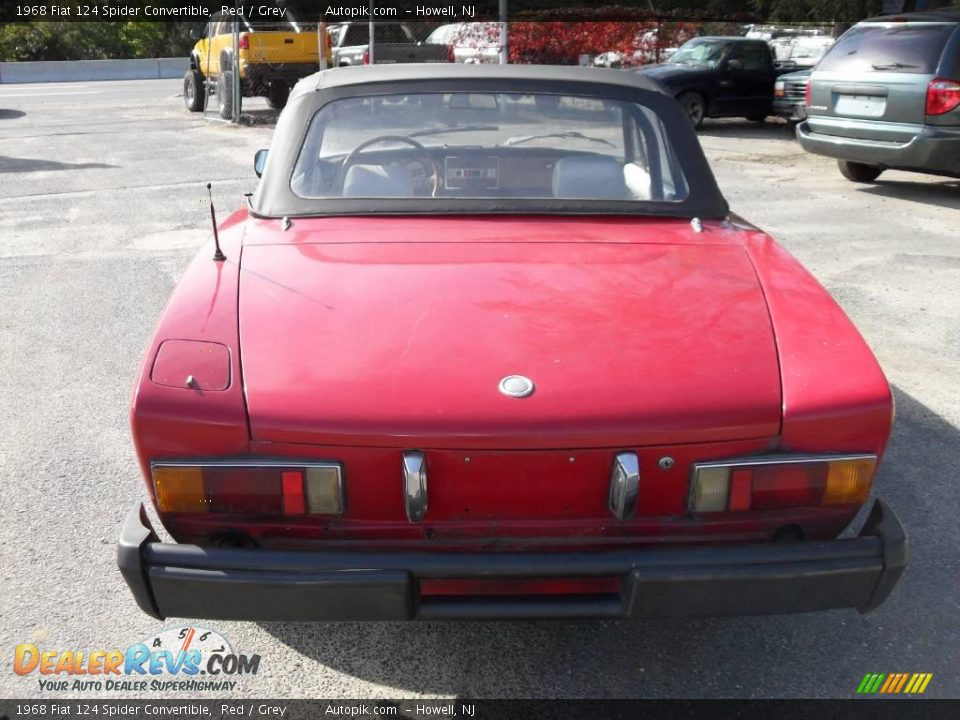 1968 fiat 124 spider convertible red grey photo 6. Black Bedroom Furniture Sets. Home Design Ideas
